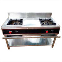 Stainless Steel 2 Burner Cooking Range