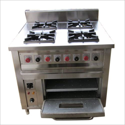 Stainless Steel Four Burner With Oven