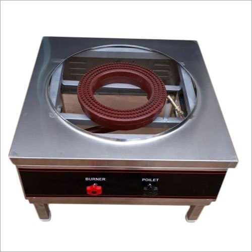 Stainless Steel Single Bulk Burner Cooking Range