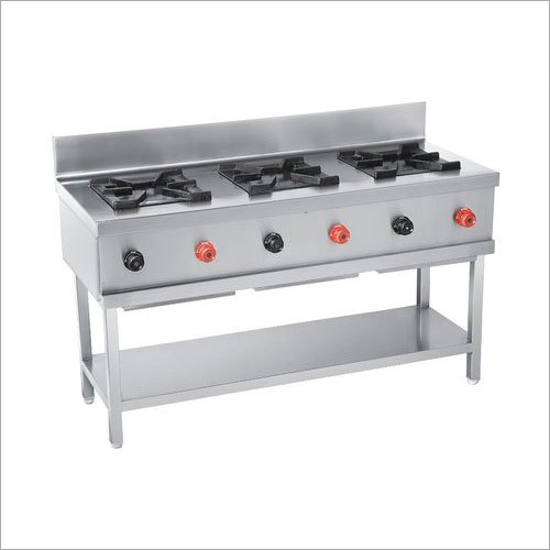 Stainless Steel 3 Burner Gas Stove