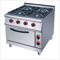 Stainless Steel 4 Burner Cooking Range