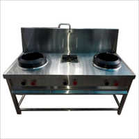 Stainless Steel 3 Burner Chinese Cooking Range
