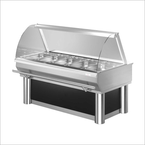 Stainless Steel Bain Marie Display Counter
