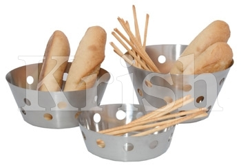Heavy Bread Basket With Round Cutting