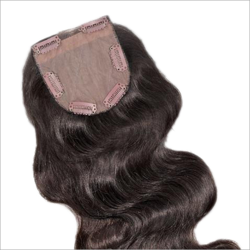 Wavy Clip On Top Closure Hairpiece