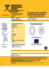 CVD Diamond 1.63ct J VS1 Oval Cut IGI Certified Stone