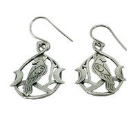Fancy Bird Design 925 Silver Earring