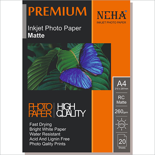 260 GSM Inkjet Photo Paper