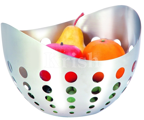 Boat Shape Fruit Bowl with Round Cutting