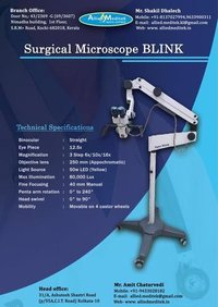 ENT Operating Microscope ( Model- Blink LED)