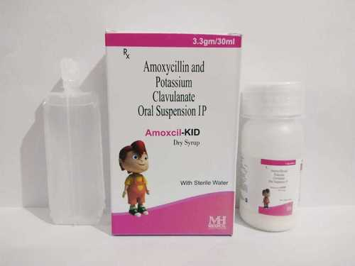 AMOXYCILLIN 200 MG  CLAVULANIC 28.50 MG WITH WATER (AMOXCIL-KID DRY SYP)
