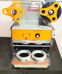 Cup Sealing Machine ( Double Head Automatic )