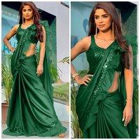 Ruffle designer  saree