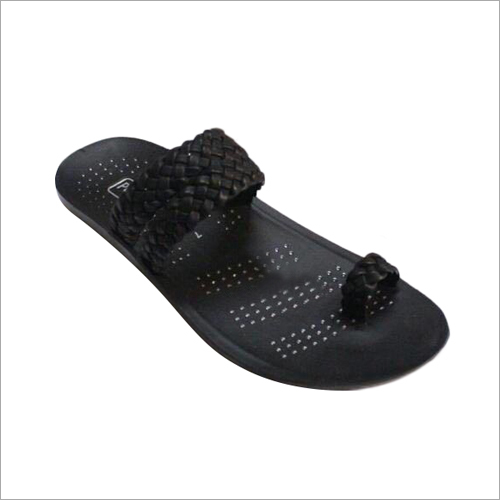 Mens Non Slip PU Leather Slippers
