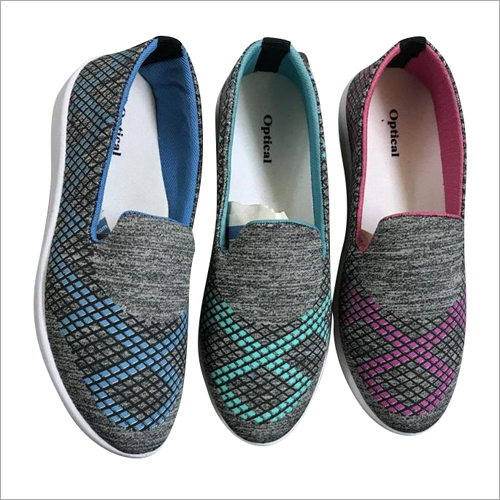 Ladies Printed Slip On Shoes