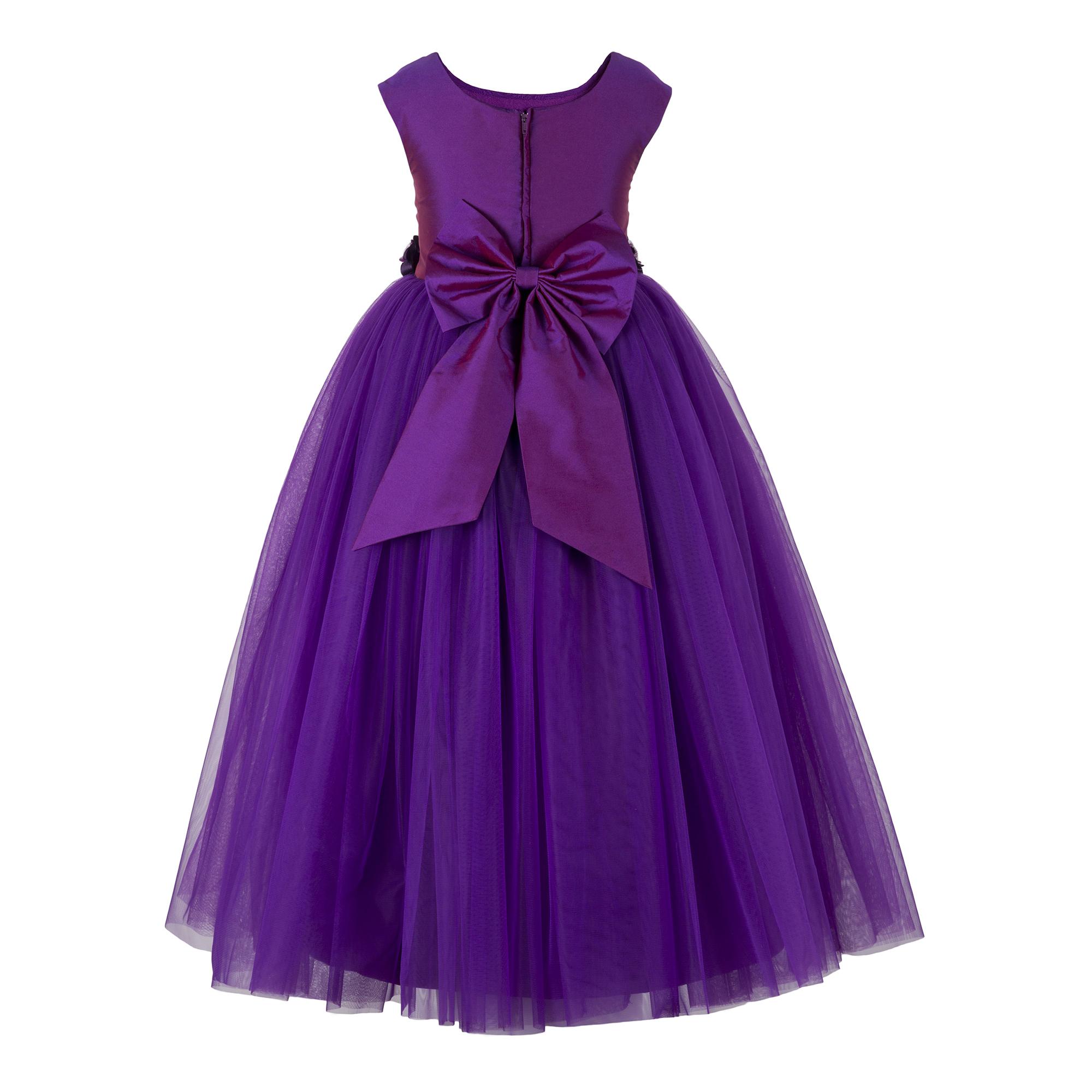 Kids Net Long Purple Gown