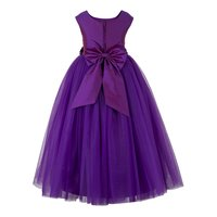 Kids Net Long Purple Gown