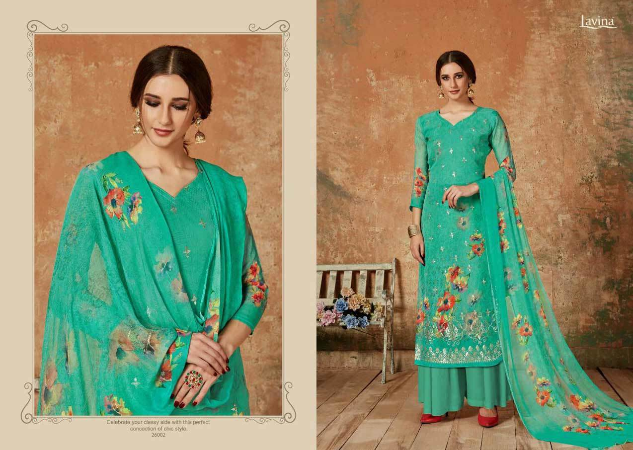 Pure Georgette With Digital Prints With Sequence Works