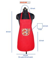 Apron made in cotton fabric
