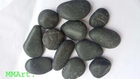Wholesale natural Black agate Pebbles stone for landscaping garden