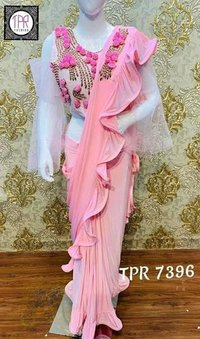 FANCY RUFFLE SAREE COLLECTION