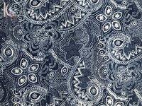 Paisley Print Indigo Blue Fabric