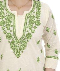 Cotton Luknowi Chikan Short Top