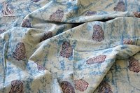 Indigo Blue Paisley Printed Cotton Fabric