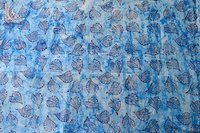 Indigo Blue Paisley Printed Cotton Fabric