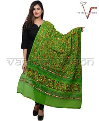 Ladies Flower Work Aari Dupatta