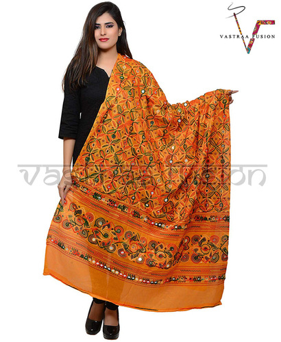 Ladies Flower Work Aari Dupatta