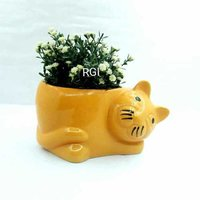 Cat shape planter