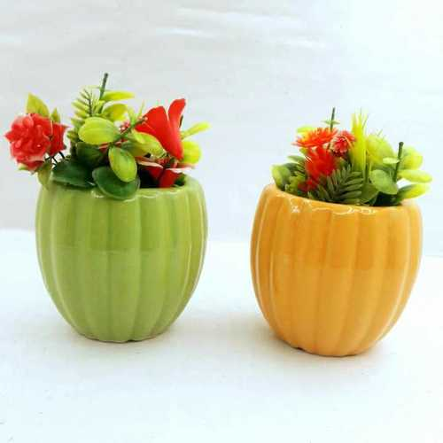Pumpkin  shape  pot