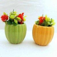 Pumpkin  shape  pot