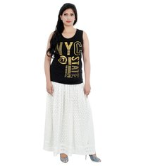 Ethnava Hand Embroidered Georgette Haqooba Free Size Skirt