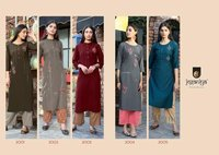 Muslin Embroidery Kurtis With Palazzo