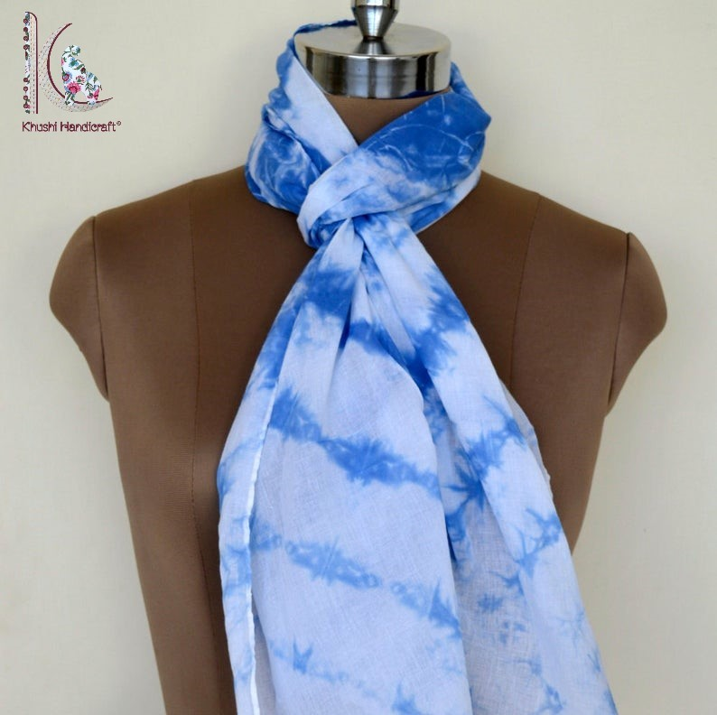 Indigo Blue Tie Dye Stoles