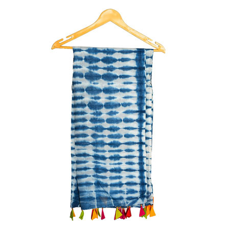 Tie Dye Indigo Blue Stole Sarongs