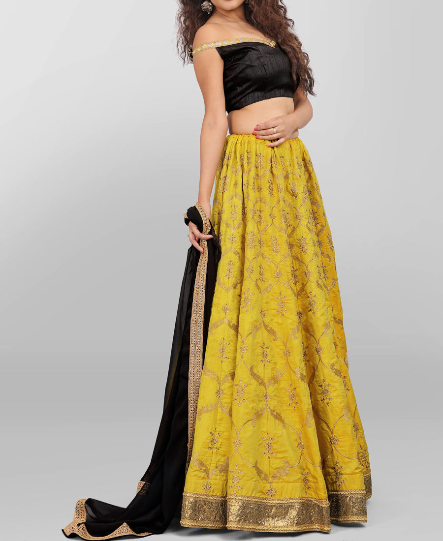 Ineffable Yellow Lehenga Choli