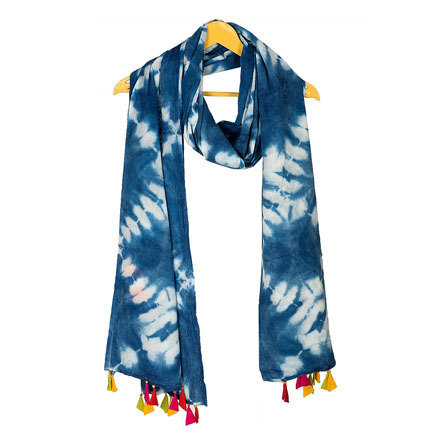 Shibori Printed Cotton Stole