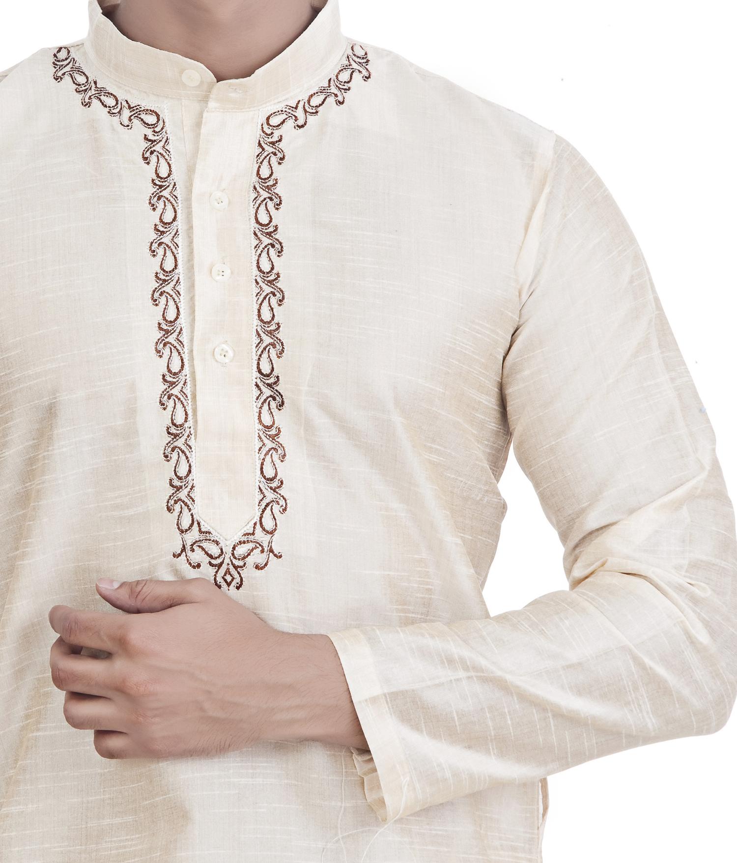 Ethnava Hand Embroidered Fancy Lucknowi Chikan Kurta
