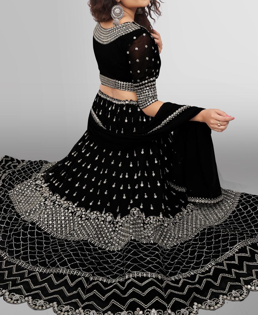 Black Georgette Lehenga Choli
