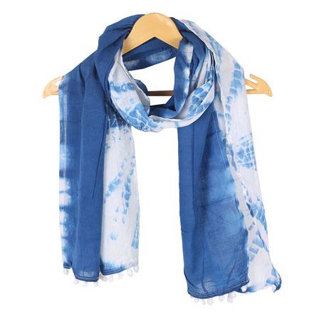 Neck Wear Shibori Cotton Stole And Sarong