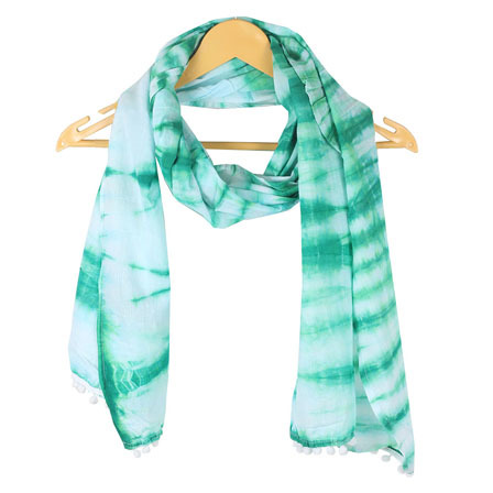 Light Weight Soft Cotton Tie Dye Pareo Stole