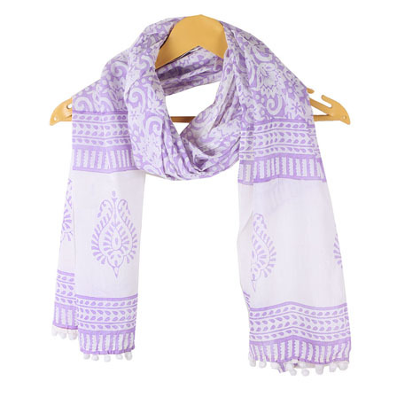 Hand Block Printed Cotton Stole