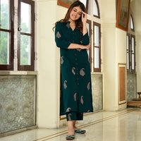 Floor Length Stitched Kurtis