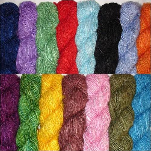 Dye Recycled Silk Yarn