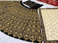 Velvet Designer Lehenga Choli Dress