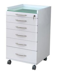 DENTAL MOBILE LOCKING STEEL STORAGE DENTAL CABINET/TROLLY WITH CASTORS 5 DRAWER