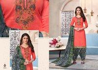 Glaze Cotton Readymade Designer Patiyala Suits